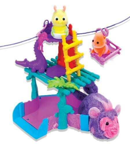 Zhu Zhu Pets Zhu Fari Zippity Zip-Line Playset by Cepia. $8.97. Place your Zhu Zhu Baby on the zip-line and watch as it zips along to the tree house. Zhu Fari animals seek new heights and thrilling speeds with the Zippity-line playset. Discover endless adventures in the world of Zhu Fari. Includes 1 playset and Accessories. It's a Zhutastic adventure for you and your Zhu! Use the zip-lines to connect your Zhu-Fari PLaysets
