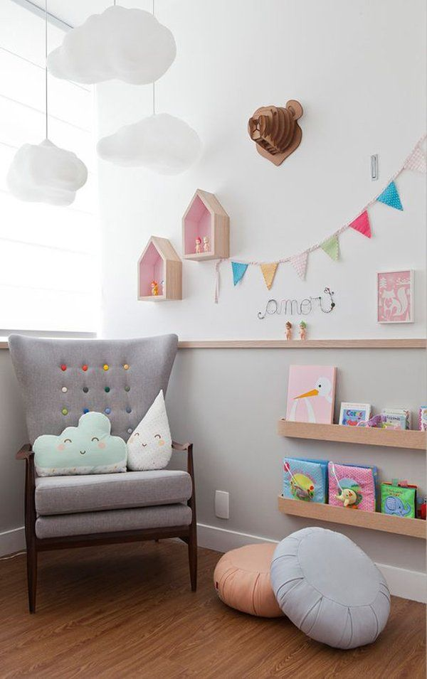 esponjosas nubes para la habitacin del beb