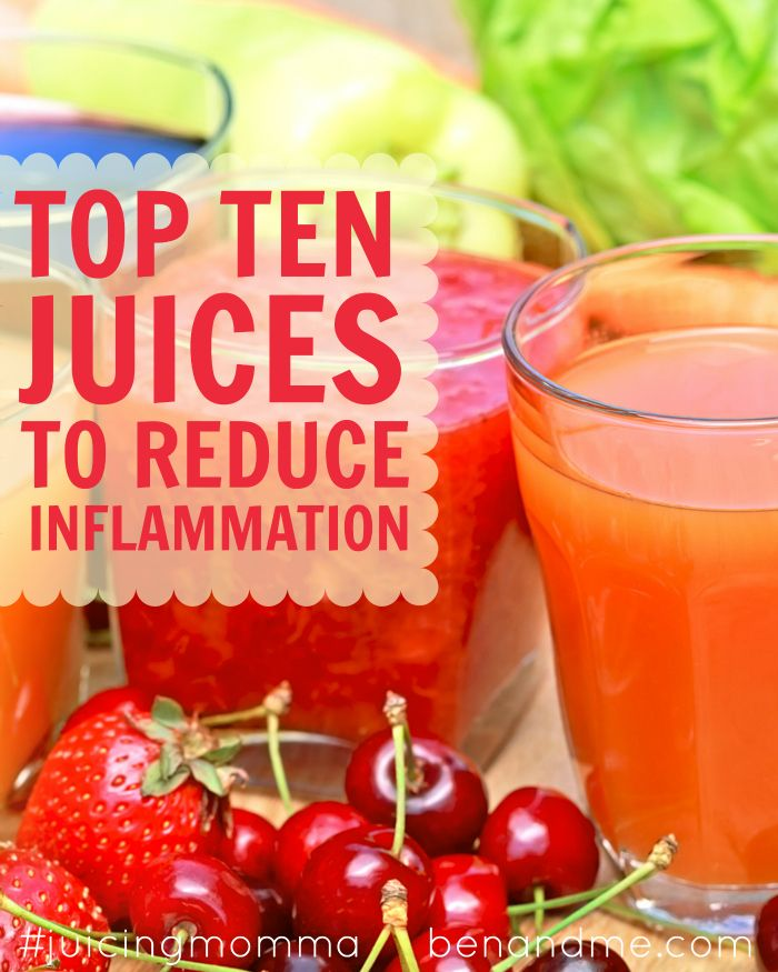 Top 10 Juices To Reduce Inflammation Food Smoothies