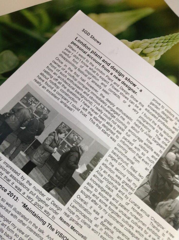 Article on SGD Vitis magazine
