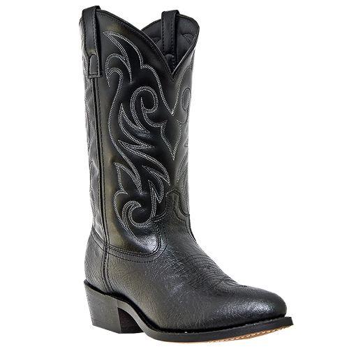 Black+Cowboy+Boots+for+Men | Mens Denton 12 Black Bullhide Print Western Cowboy Boots laredo mens ...