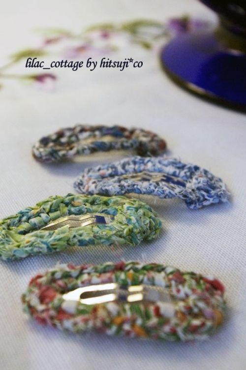 布で、縁編みパッチンピンの作り方 編み物 編み物・手芸・ソーイング