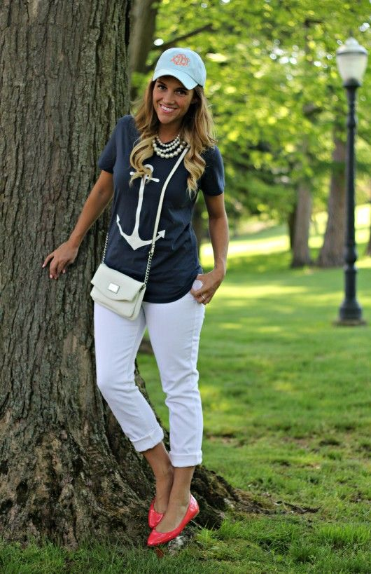 Old Navy White Jeans: 2 Ways @Old Navy @Marley Lilly