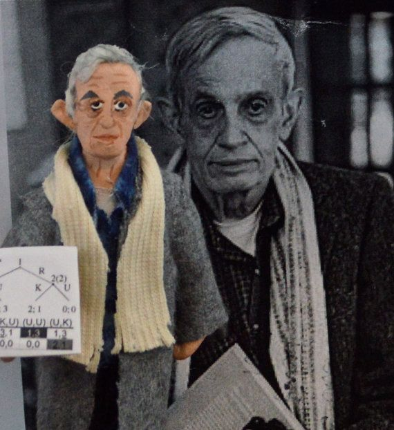 John Forbes Nash Jr. Mathematician Art Doll by UneekDollDesigns
