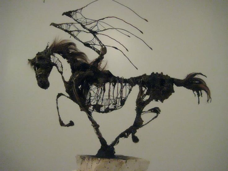 © Victoria Taylor   Winged Horse of the Apocalypse sculpture  http://www.victoriataylorillustration.com/