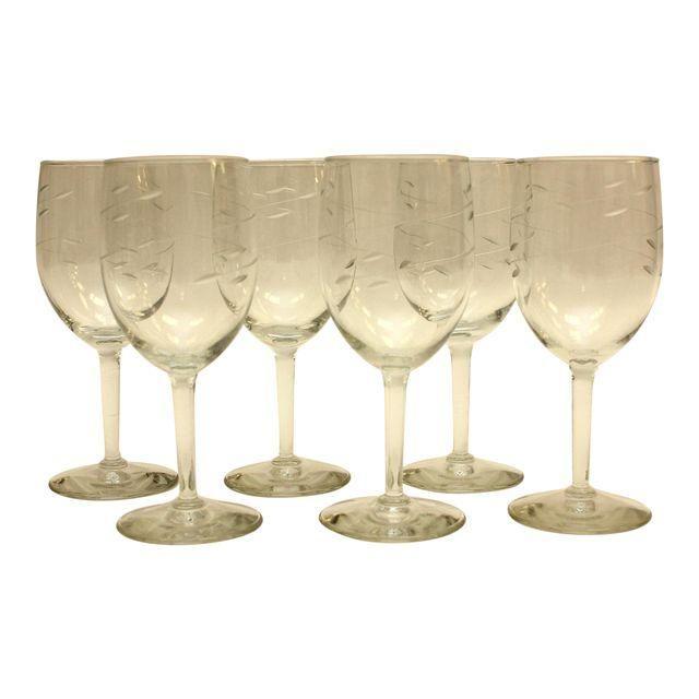 Image of 1950s Vintage Wine Glasses - Set of 6