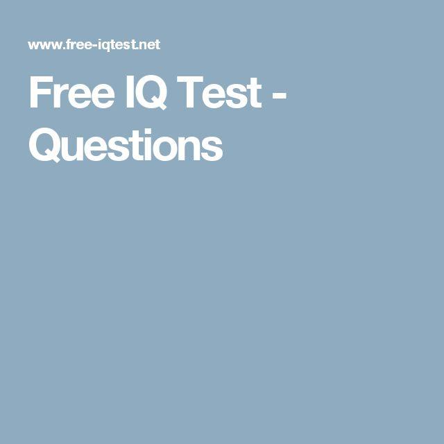 Free IQ Test - Questions