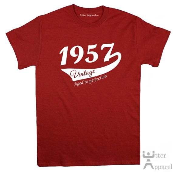 60th Birthday Gift For Man Vintage 1957 T-shirt by UtterApparel