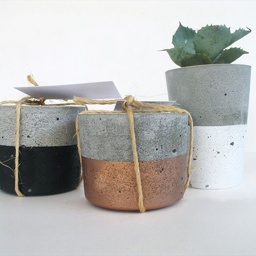 Urban Decor concrete succulent planters & tealight candle holders available at www.nothingbutvintage.com.au