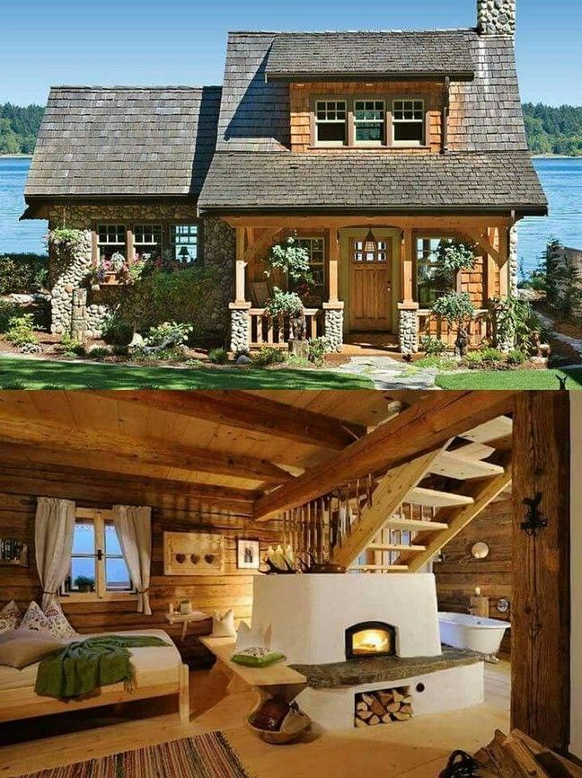 45 small log cabin homes ideas 17