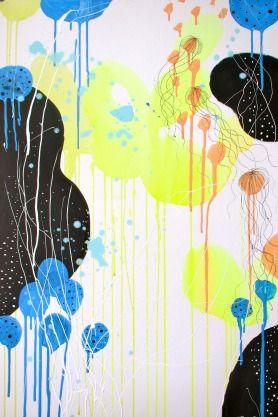 UNDER THE SEA BY: MIMMI BRUNNSBERG-HARROD 60CM X 90CM X 2CM, Acrylic on Canvas, $332 A look under the surface..