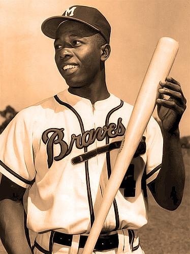 """Henry """"Hank"""" Aaron, Right Field, Milwaukee/Atlanta Braves"""