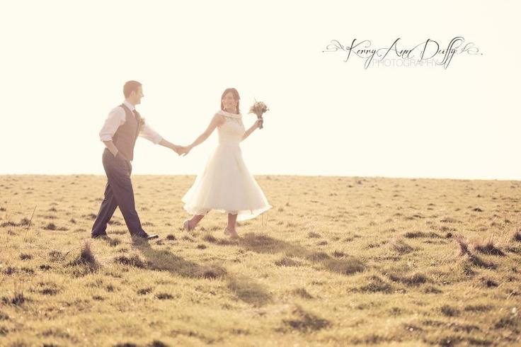 www.kerryannduffy.com Kerry Ann Duffy Photography Tea length wedding dress Beautiful haze Wedding photography