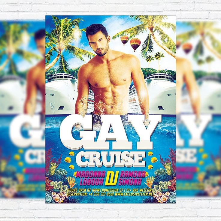Gay Cruise - Premium Flyer Template + Facebook Cover http://exclusiveflyer.net/product/gay-cruise-premium-flyer-template-facebook-cover/