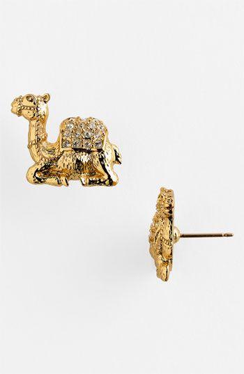 kate spade new york 'wild one' camel stud earrings | Nordstrom