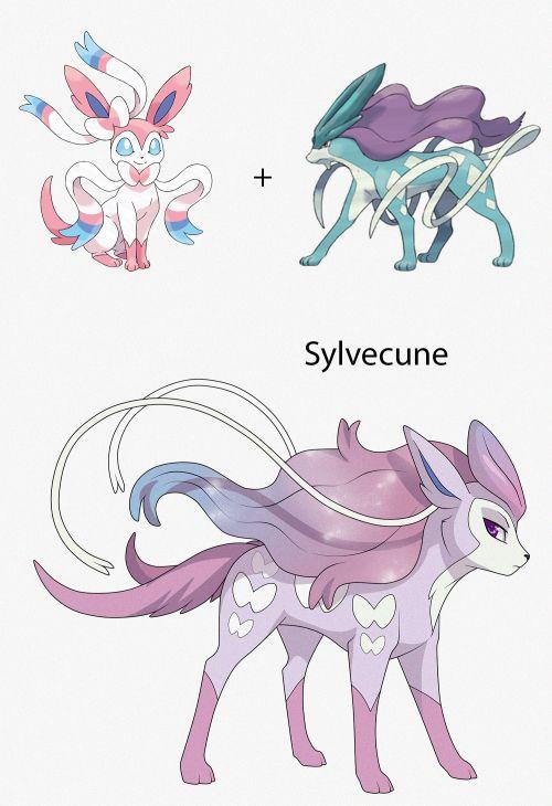 Suicune + Sylveon fusion = Sylvecune (Pokemon Fusion)