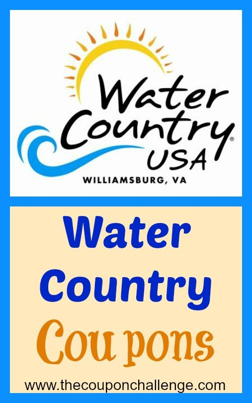Water Country USA Coupons - Williamsburg, Virginia: Families Travel, Summer Vacations, Save Money, Summer Stuff, Country Williamsburg, Group Boards, Country Usa, Coupon Challenges, Hampton Roads