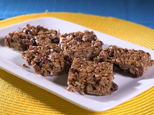 Chocolate Cherry Bars- try substituting sunflower butter for peanut butter if peanut allergies are present