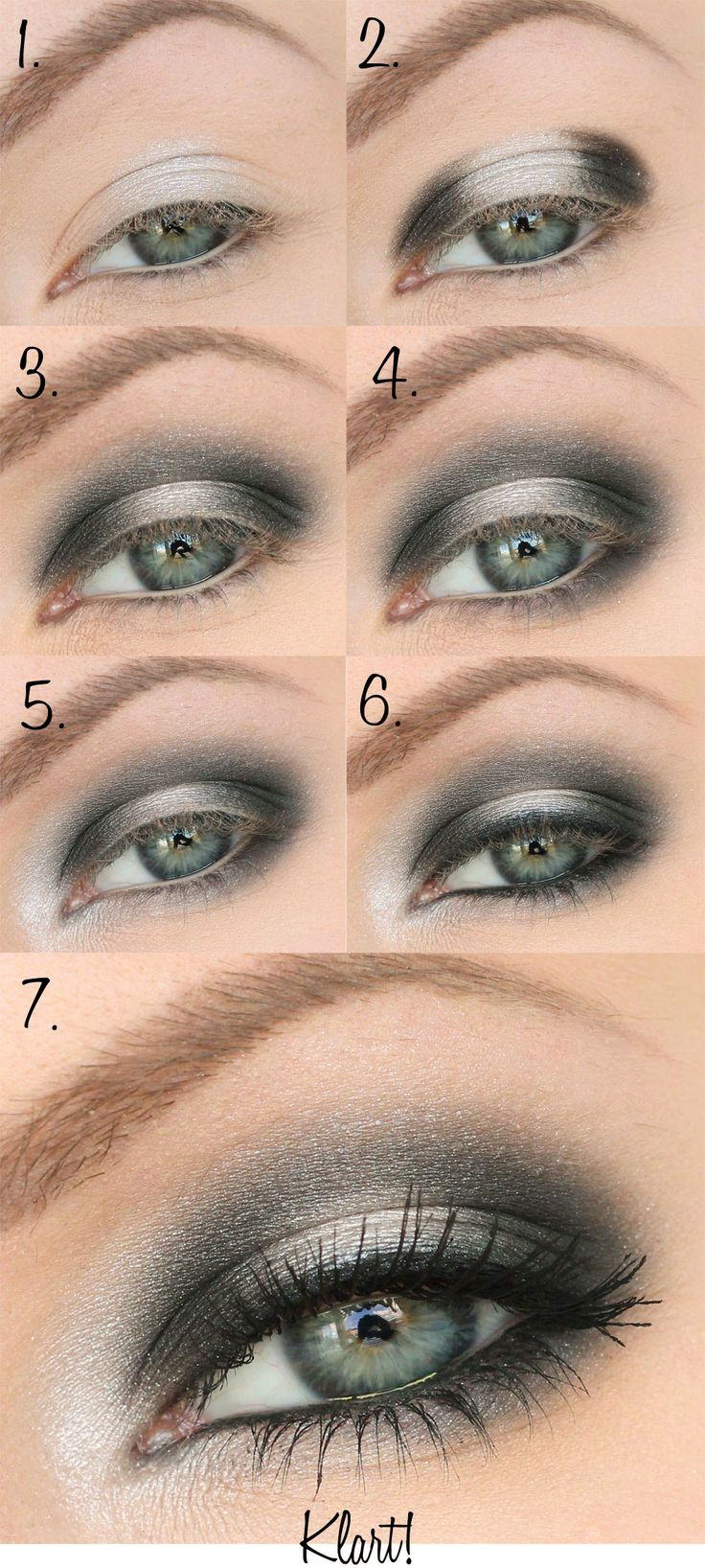 smokey eye tutorial tutoriales de maquillaje pictorials pinterest gonmakeup h r och. Black Bedroom Furniture Sets. Home Design Ideas