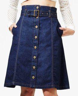 front placket skirt