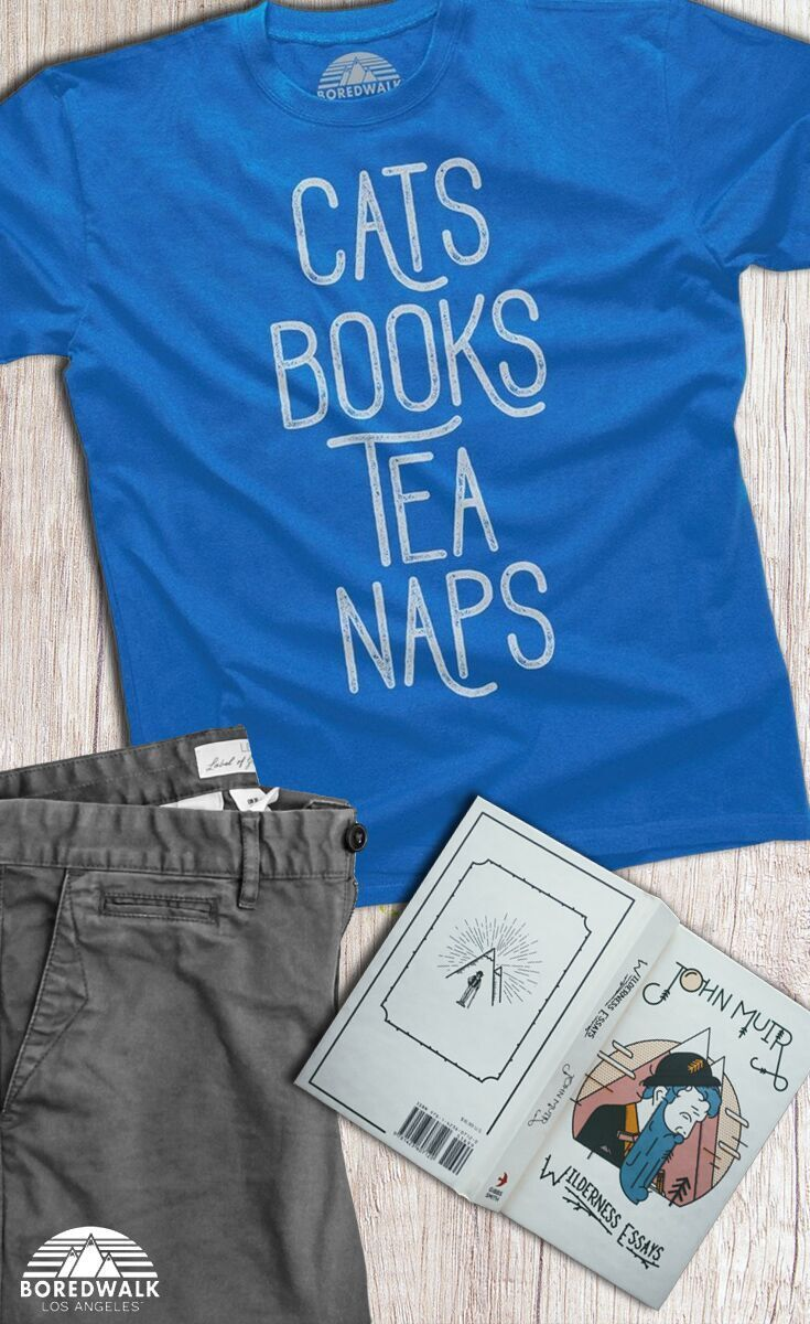 b3503ab4f Books...Tea...Naps...do these things fall on your list of favorite things?  If so this cat shirt is perfect for you! Do you need a gift for a book  lover or ...