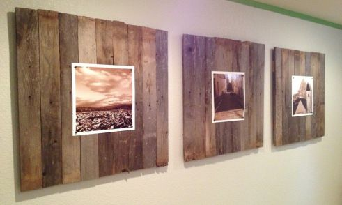 DIY reclaimed wood wall art panels for less than $30.