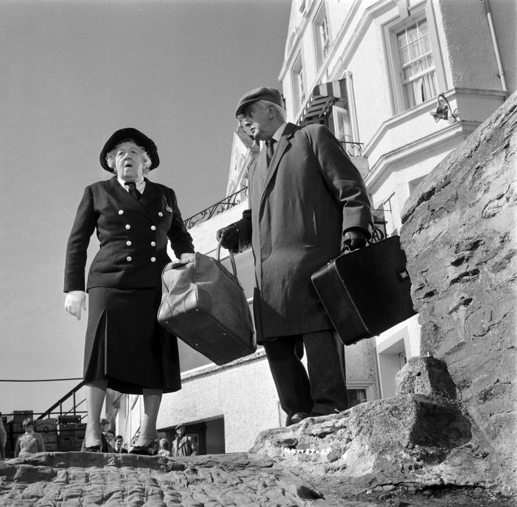 1964. Murder Ahoy! An original screenplay loosely incorporating certain elements of Agatha Christie's They do it with Mirrors. Margaret Rutherford as Miss Marple, Stringer Davis as Mr Stringer.