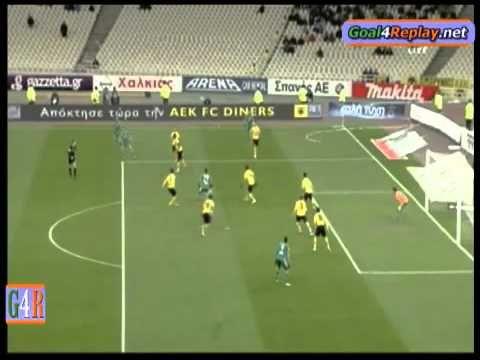 AEK-Panathinaikos 1-2 2/2/2011 Gilberto Silva Goal