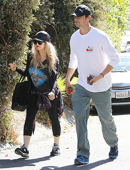 First-time parents Fergie and Josh Duhamel visit their house that's under construction in Brentwood, Calif.