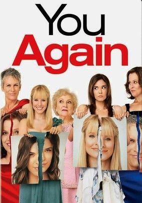 You Again.  Movie.  2010.  PG. About standing up to bullies, brother is about to marry the girl who made her high school life miserable.  Long ago, the bride's aunt terrorized Marni's mom.  The gloves come off, claws come out, & anything goes in the reunion.  Stars Betty White, Jamie Lee Curtis, & Kristen Bell)