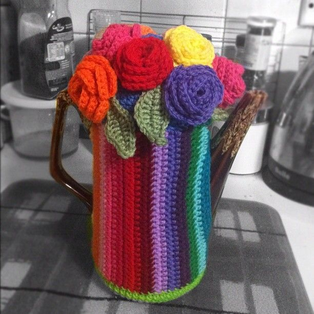 Coffee Pot Cosy Knitting Pattern : Crochet coffee pot/ tea pot cosy display piece - by DelliciousCrochet on made...