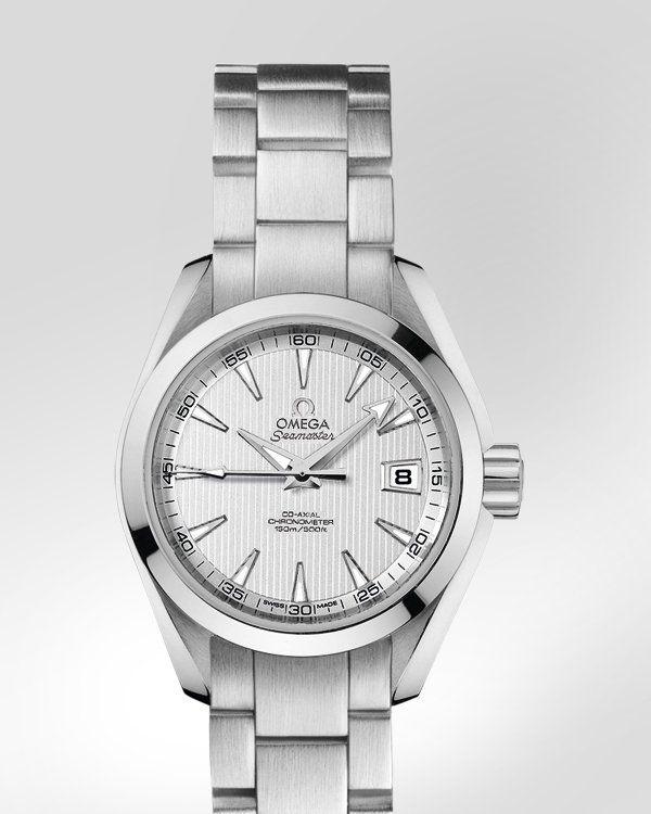 OMEGA Watches: Seamaster Aqua Terra 150 M Omega Co-Axial 30 mm - Steel on steel - 231.10.30.20.02.001
