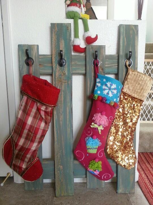 stocking holder :-) Or hang on wall to hang coats.