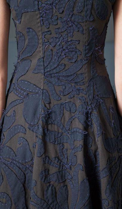 Negative Reverse Magdalena Corset Dress (Detail) |  Alabama Chanin