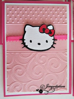 Hello Kitty Invitations   #silhouettecameo #cricut #card #birthday #babyshower #invitations #jingvitations #hellokitty #ilovehellokitty