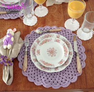 sousplat croche lilas