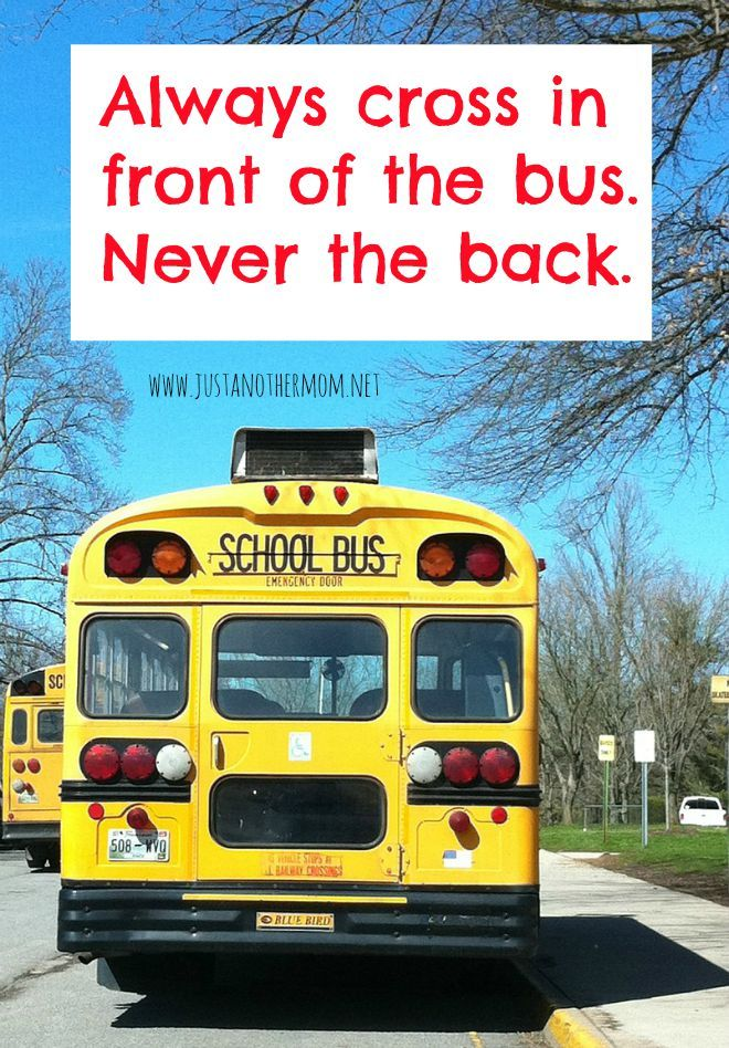 school bus safety tip