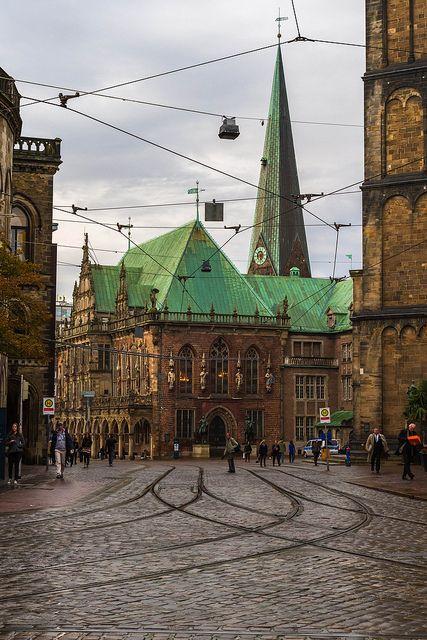 City Hall in Bremen, Germany | repinned by www.mybestgermanrecipes.com