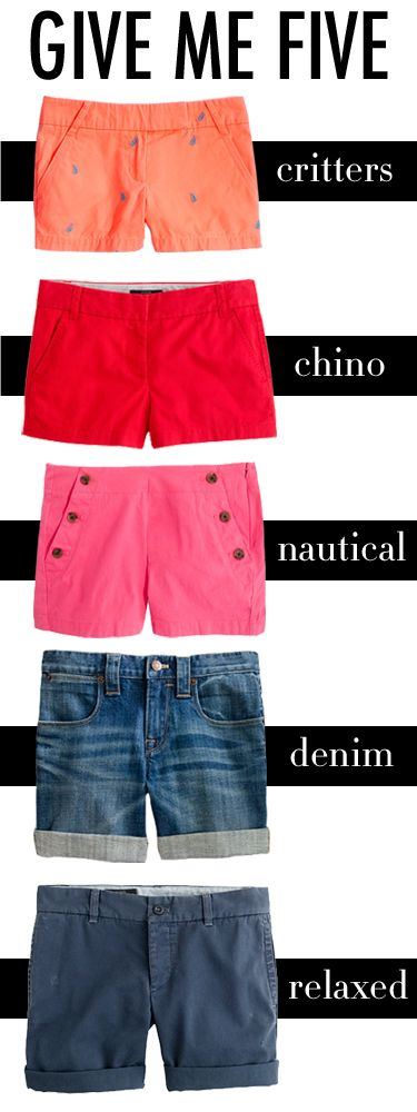 The five kinds of shorts every girl needs