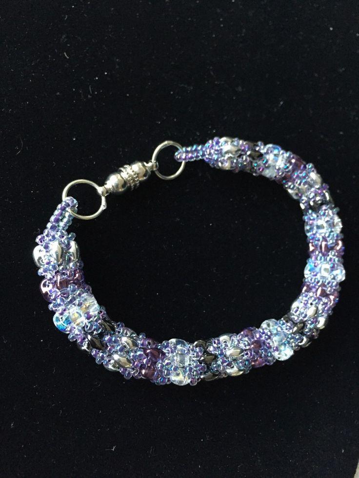 Beaded bracelet by Jaime by FunkyandfunByJaime on Etsy