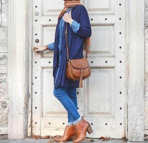 Best hijab colours to wear with denim – Just Trendy Girls