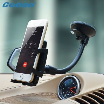 Mobile Cell Phone Holder For Car Universal Long Arm Windshield Mobile Cellphone Car Mount Bracket Holder For Your Mobile Phone Stand For IPhone GPS MP4