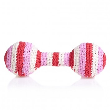 organic cotton crochet rattle