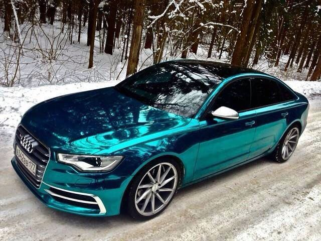 Blue Chrome wrapped Audi                                                                                                                                                                                 More