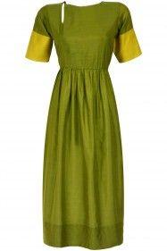 PAYAL KHANDWALA Green keyhole kurta dress