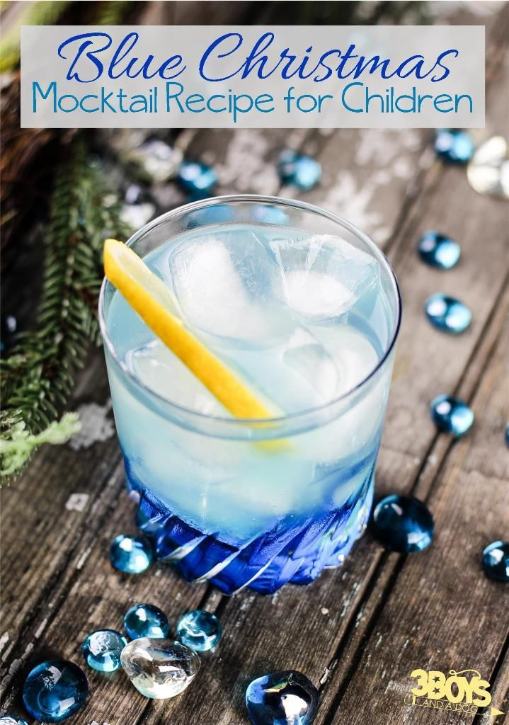 Blue Christmas Mocktails for Kids!  When planning your next party, don't forget non alcoholic cocktails for kids in your drink menu.