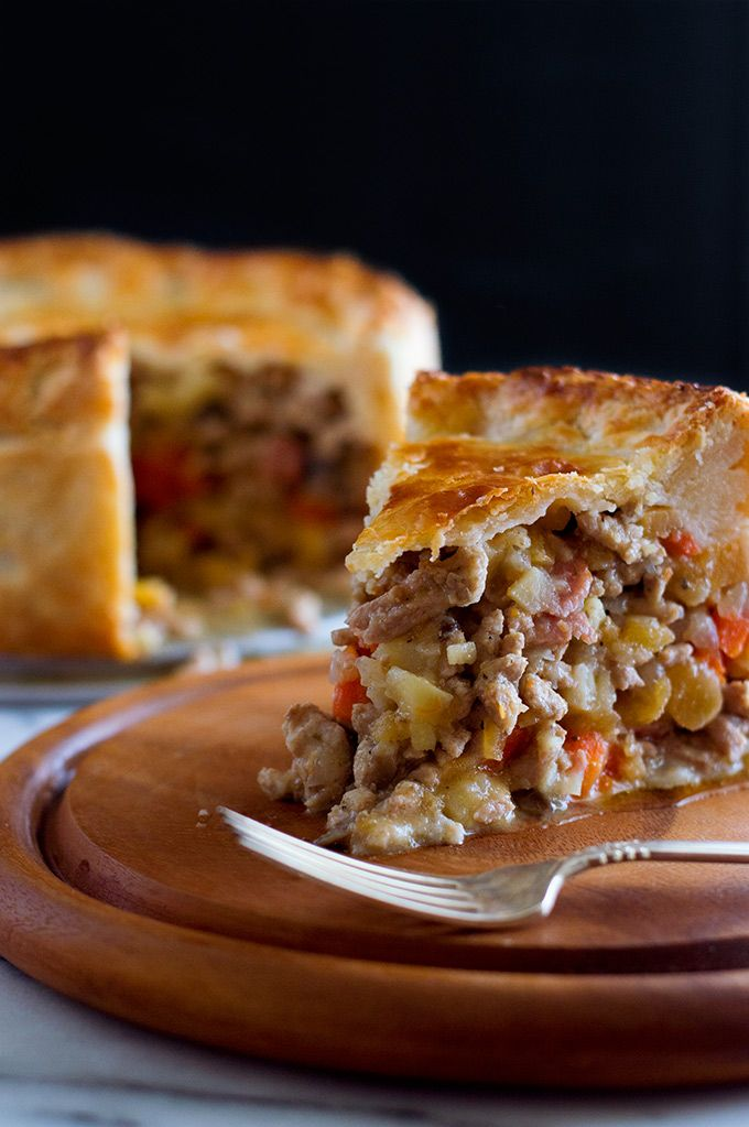 Game of Thrones Frey Pie, with Winter vegetables, bacon and ground pork