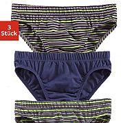 Трусы от марки Authentic Underwear в наборе из 3 штук. Прекрасная базовая модель, выполненная из ткани с высокой долей хлопка. В наборе однотонные трусы и полосатые. Материал: 95% хлопок, 5% эластан. за 799р.- от Otto