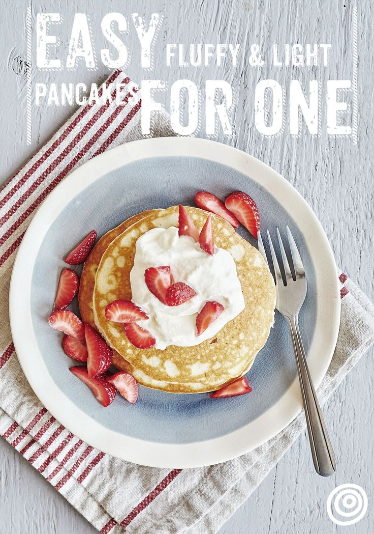 Cooking for one is a self care skill you need to master. Recipes for one person can be hard to come by though. No more! Give this fluffy pancake breakfast recipe a spin.