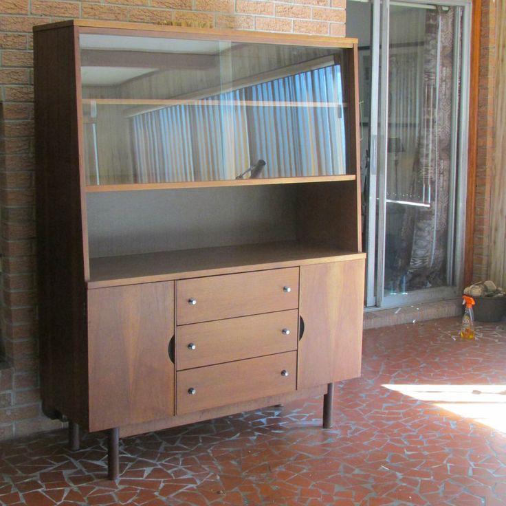 RARE Mid Century Modern Danish Teak Stanley Furniture Hutch Buffet ...